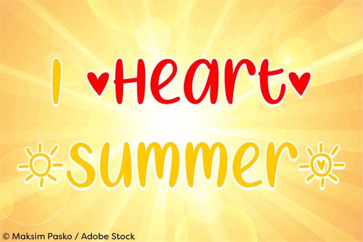 I Heart Summer Font design graphic