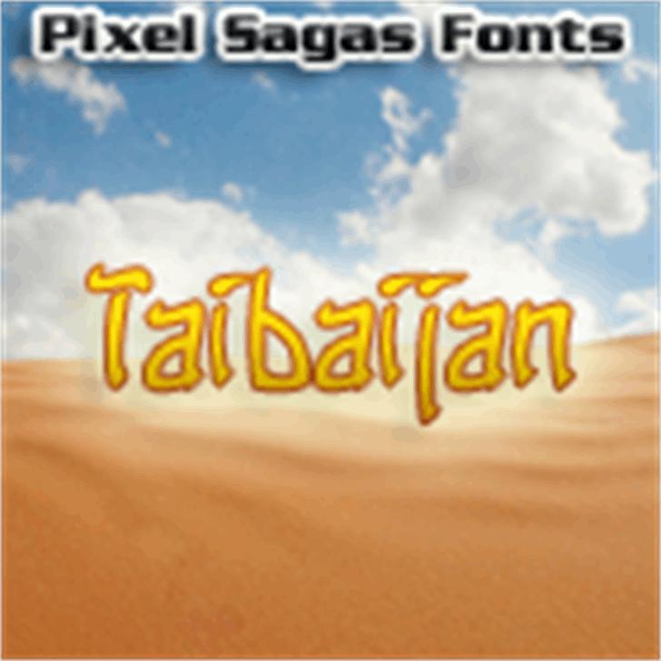Taibaijan font by Pixel Sagas