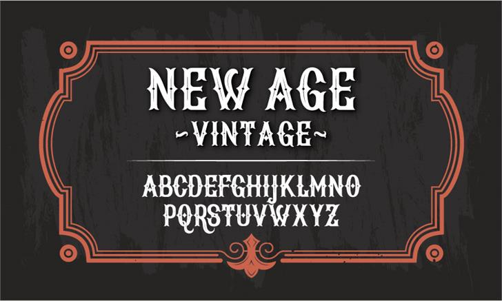 New Age Vintage Font text