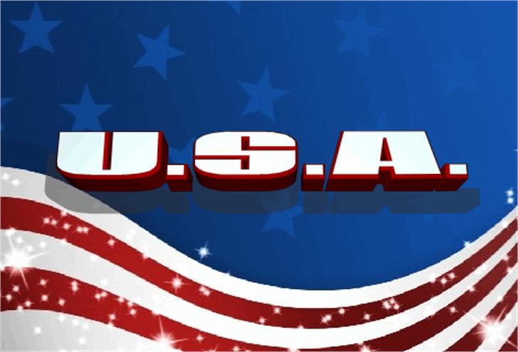 U.S.A. Font graphic design