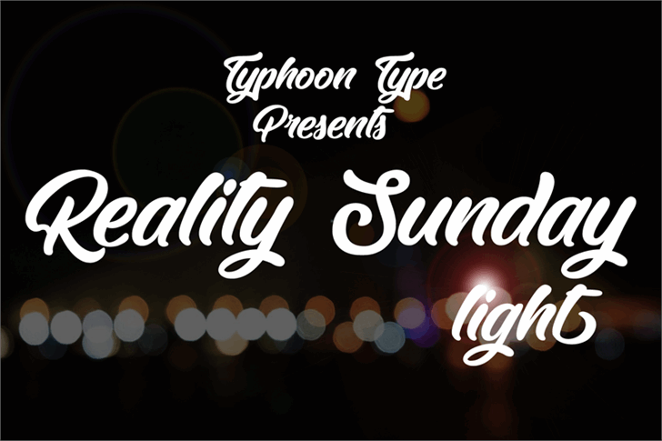 Reality Sunday light font by Typhoon Type - Suthi Srisopha