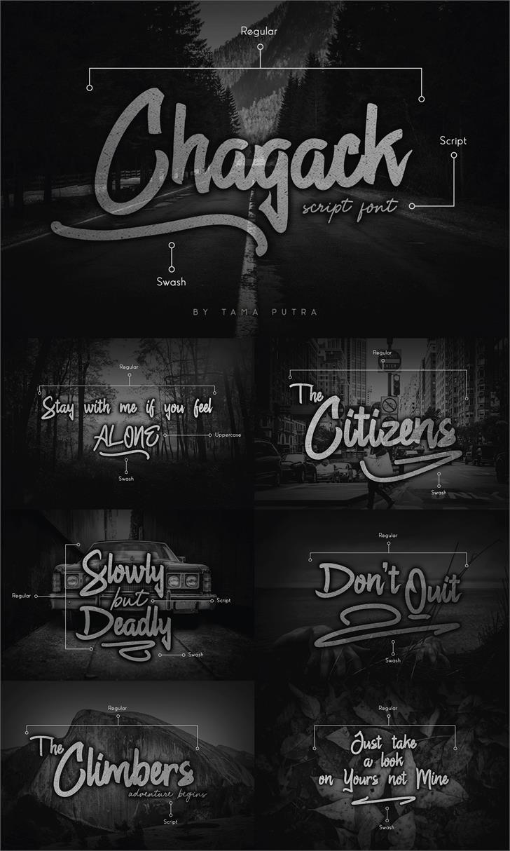 Chagack Script Personal Use Font outdoor poster