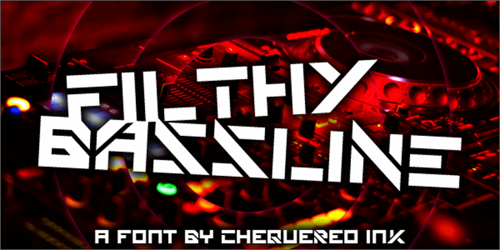 Filthy Bassline Font screenshot poster