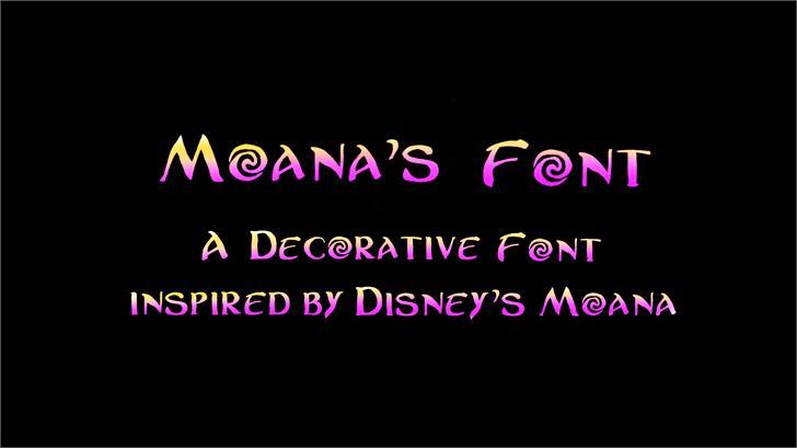 Moanas Font design graphic