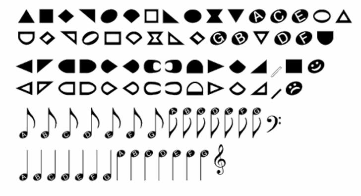 NoteHedz font by Robert Allgeyer