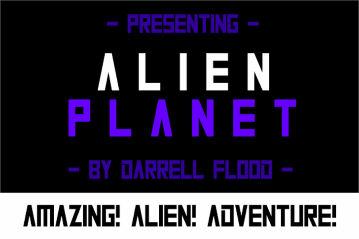 Alien Planet Font screenshot design