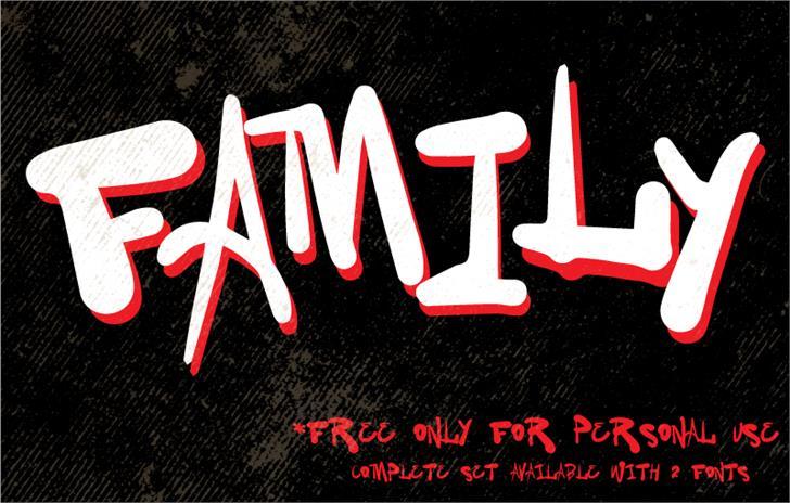 Vtks Family Font design poster