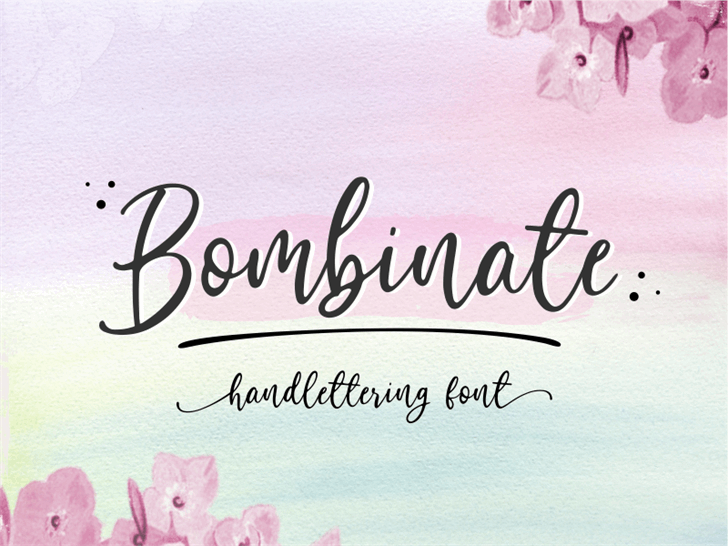 Bombinate Font handwriting text
