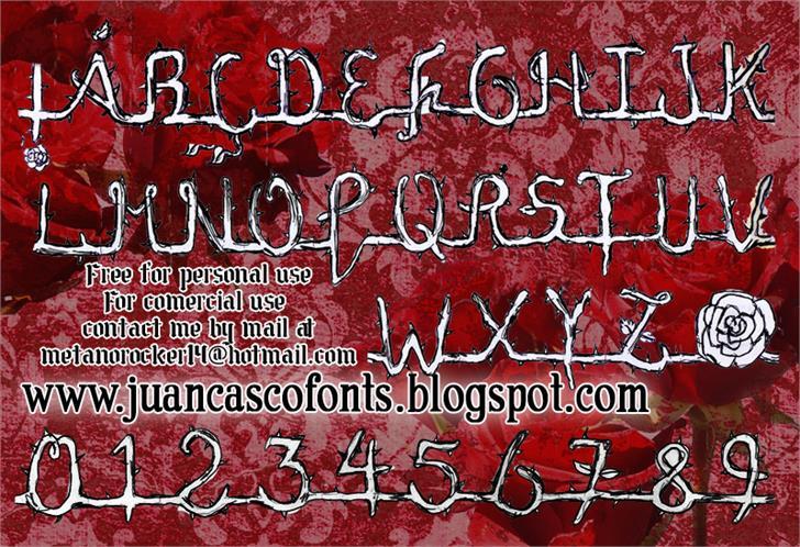 La Rosa Muerta Font text poster