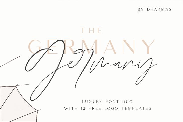 Germany Script Font handwriting
