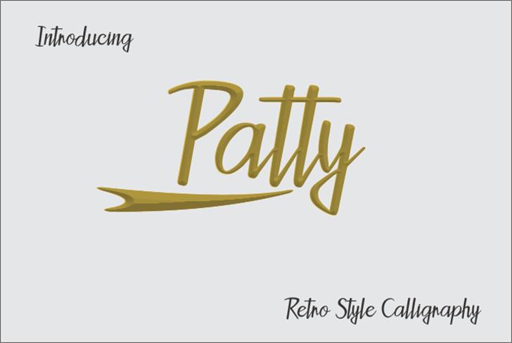 Patty Font design handwriting