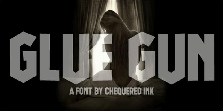 Glue Gun Font screenshot design