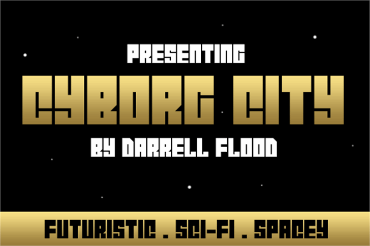 Cyborg City Font design graphic