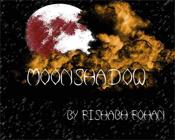 Moonshadow Font screenshot outdoor object