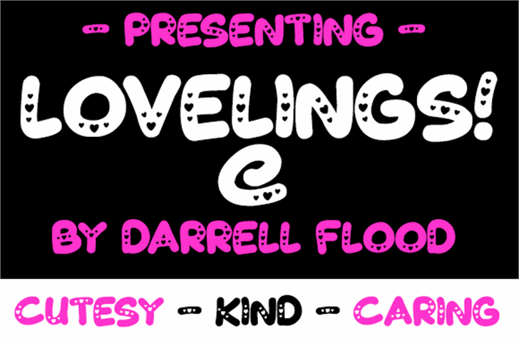 Lovelings Font screenshot design