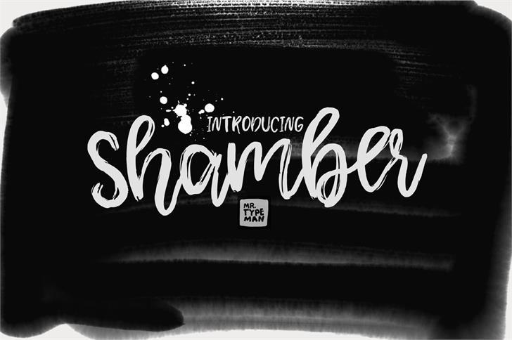 Shamber Font design handwriting
