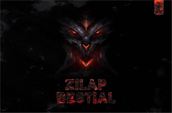 Zilap Bestial DEMO Font poster