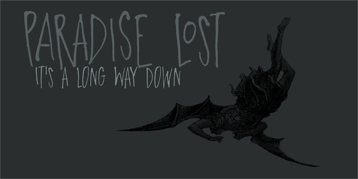 DK Paradise Lost Font drawing sketch