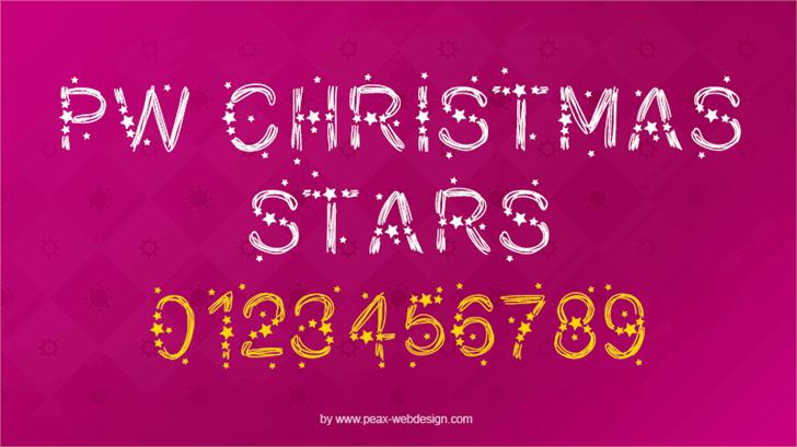 PWChristmasStars Font design typography