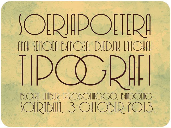 Soerjaputera Font sign text