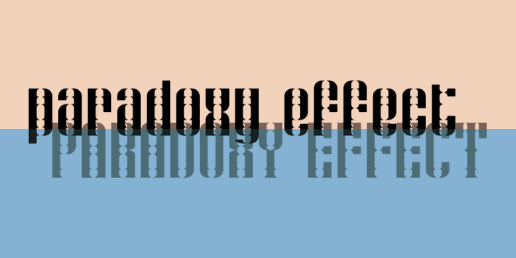 Paradoxy Effect Font design typography