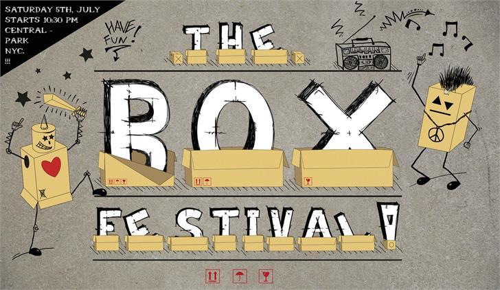 Box Font cartoon drawing