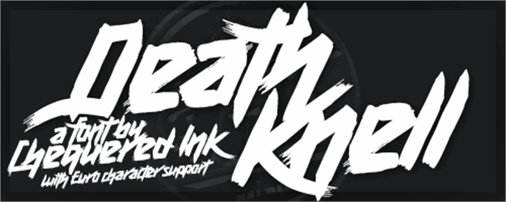 Death Knell Font design poster