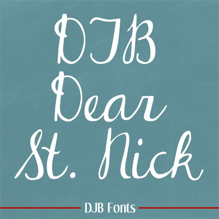 DJB Dear St. Nick font by Darcy Baldwin Fonts