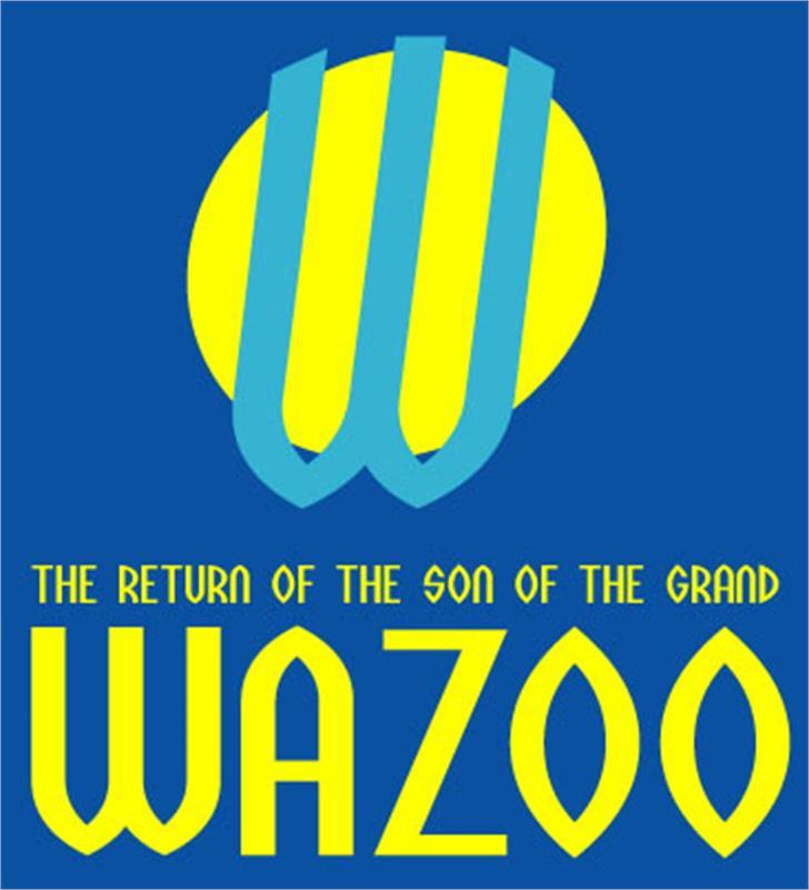 Wazoo Font design screenshot