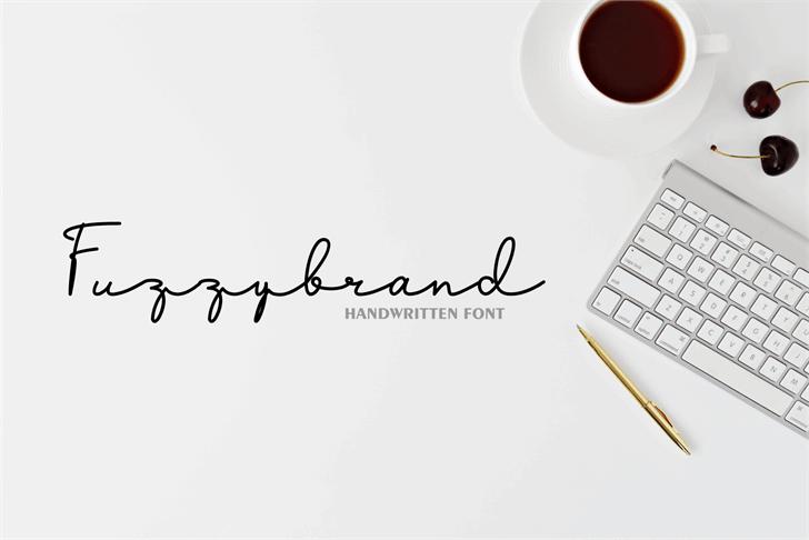 Fuzzybrand Font design