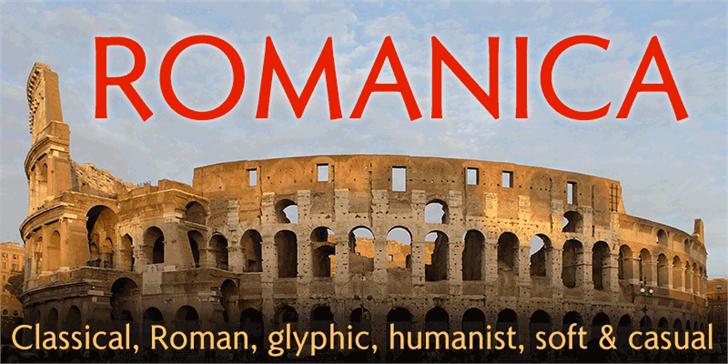 Romanica Font sign