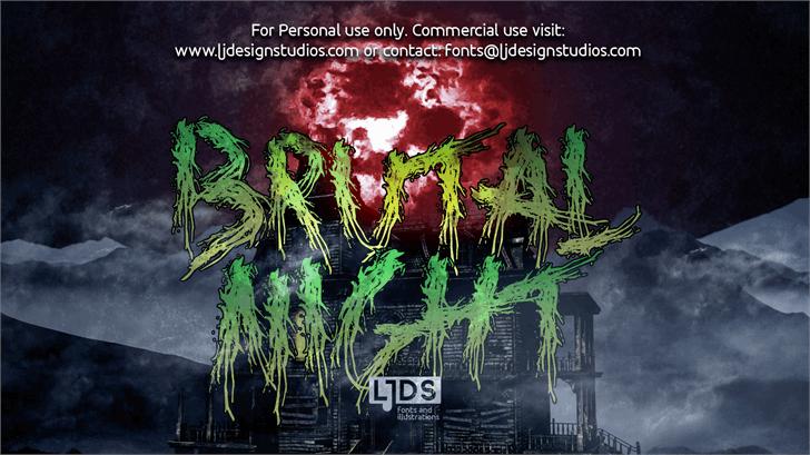 Brutal Night DEMO Font poster