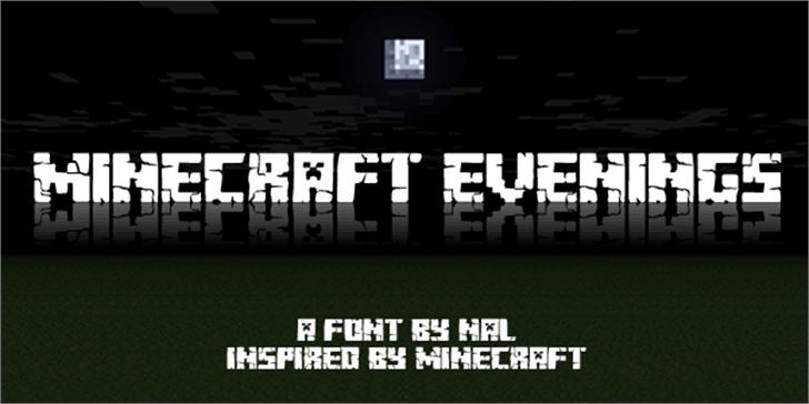 Minecraft Evenings Font screenshot dark