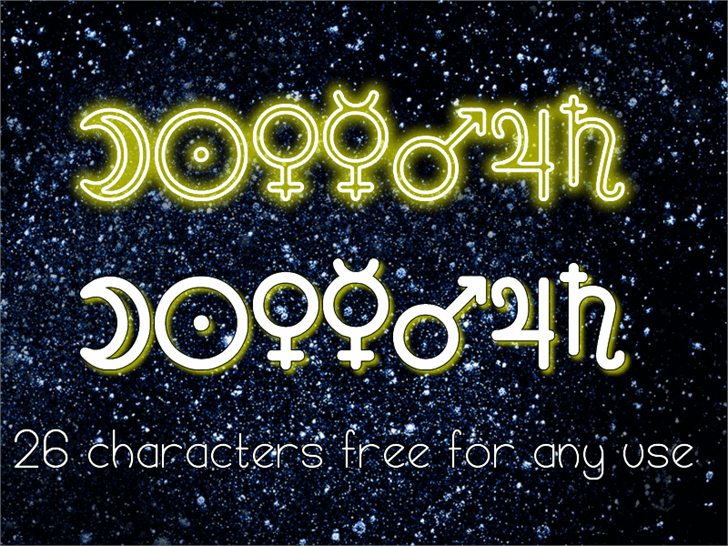 Astronomic Signs St font by Southype