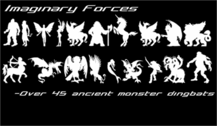 Imaginary Forces Font design cartoon
