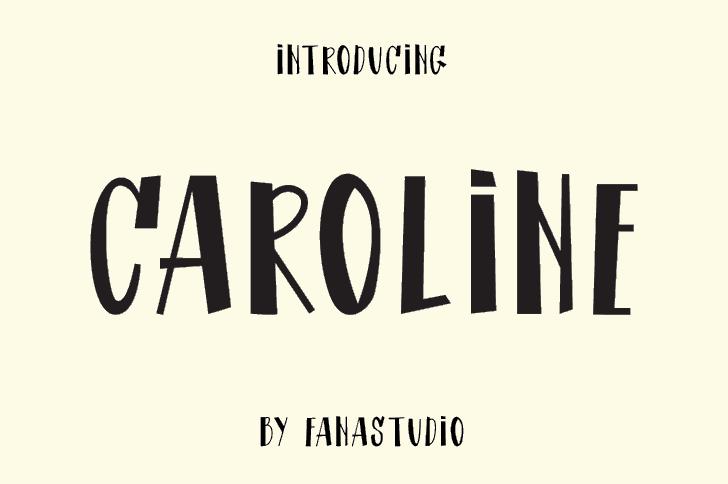 CAROLINE Font screenshot poster