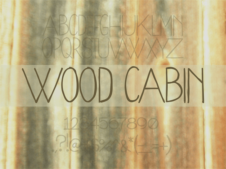 WoodCabin Font handwriting text
