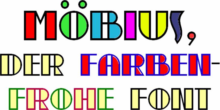 moebius Font design graphic