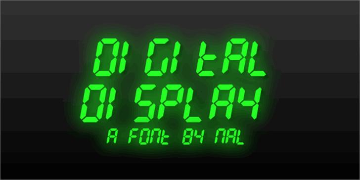 Digital Display Font clock design