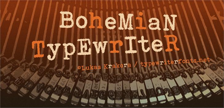 Bohemian typewriter Font handwriting typewriter