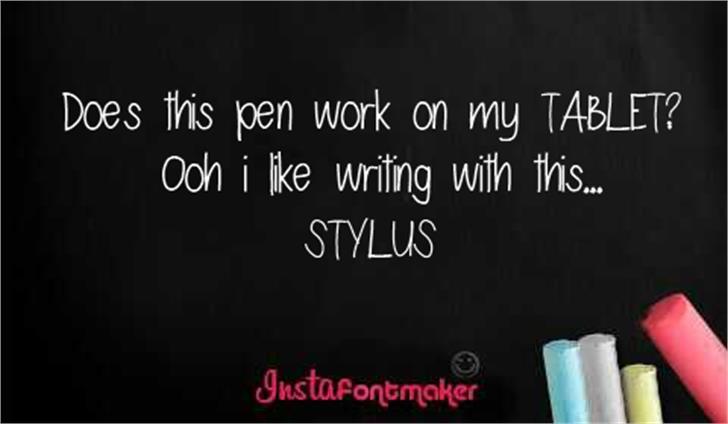 stylus Font screenshot text