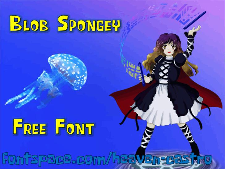 Blob Spongey Font cartoon screenshot
