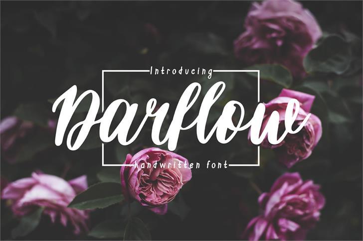Darflow font by Mr. Typeman