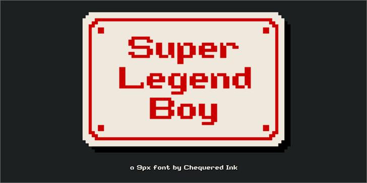 Super Legend Boy Font screenshot design