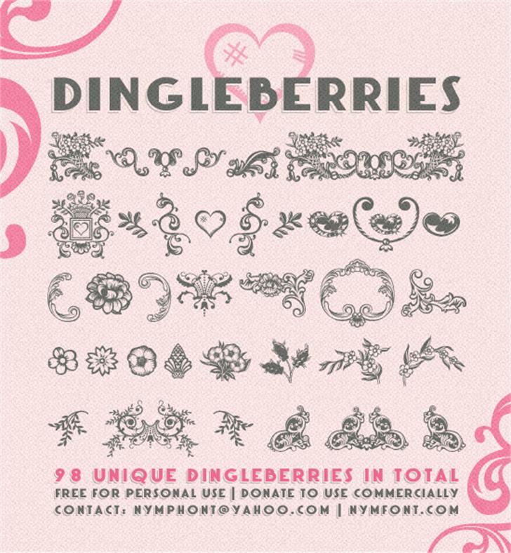 Dingleberries font by Nymphont