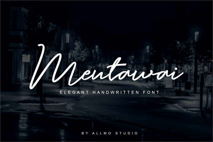 Mentawai Font screenshot water