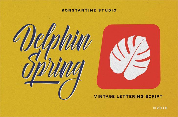 Delphin Spring DEMO Font design handwriting