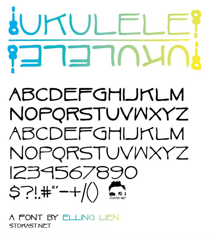 Ukulele font by Elling Lien