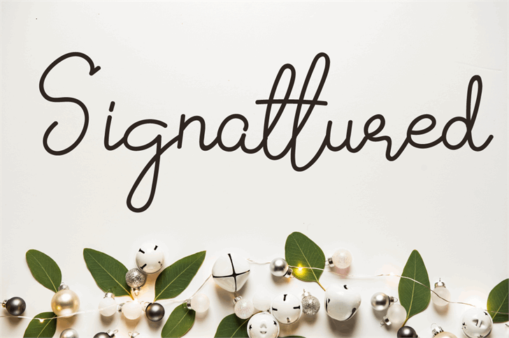 Signattured Font handwriting book