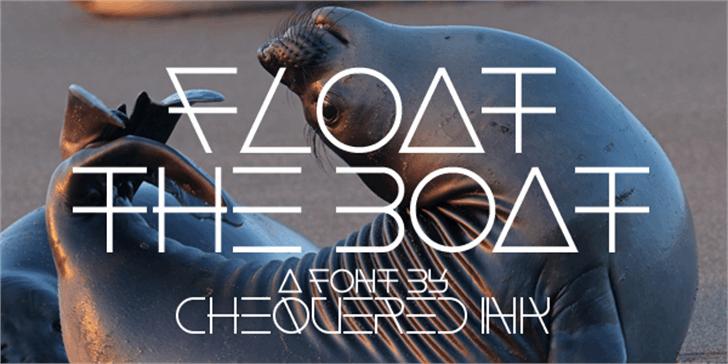 Float The Boat Font screenshot poster